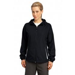Sport-Tek  Ladies Colorblock Hooded Raglan Jacket. LST76