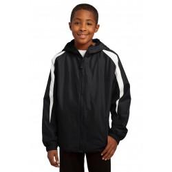 Sport-Tek  Youth Fleece-Lined Colorblock Jacket. YST81