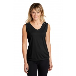 Sport-Tek  Ladies Sleeveless PosiCharge  Competitor& V-Neck Tee. LST352