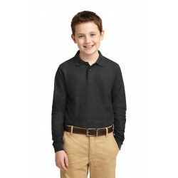 Port Authority  Youth Long Sleeve Silk Touch& Polo. Y500LS