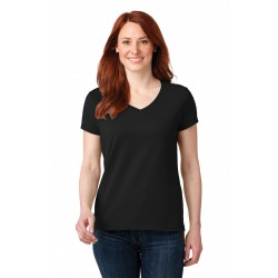 DISCONTINUED Anvil  Ladies 100% Combed Ring Spun Cotton V-Neck T-Shirt. 88VL