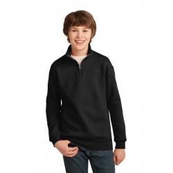 JERZEES  Youth NuBlend  1/4-Zip Cadet Collar Sweatshirt. 995Y