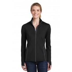 Sport-Tek  Ladies Sport-Wick  Stretch Contrast Full-Zip Jacket. LST853