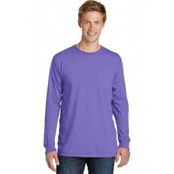 Port & Company  Beach Wash & Garment-Dyed Long Sleeve Pocket Tee PC099LSP