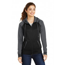 Sport-Tek  Ladies Sport-Wick  Varsity Fleece Full-Zip Hooded Jacket. LST236