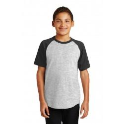 Sport-Tek  Youth Short Sleeve Colorblock Raglan Jersey. YT201