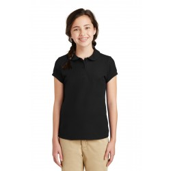 Port Authority  Girls Silk Touch & Peter Pan Collar Polo. YG503