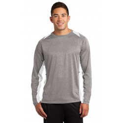 Sport-Tek  Long Sleeve Heather Colorblock Contender & Tee. ST361LS