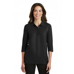 Port Authority  Ladies Silk Touch& 3/4-Sleeve Polo. L562