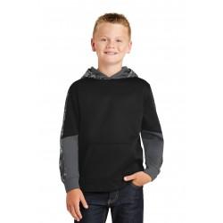 Sport-Tek  Youth Sport-Wick  Mineral Freeze Fleece Colorblock Hooded Pullover. YST231