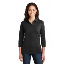 Port Authority  Ladies 3/4-Sleeve Meridian Cotton Blend Polo. L578