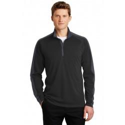 Sport-Tek  Sport-Wick  Textured Colorblock 1/4-Zip Pullover. ST861