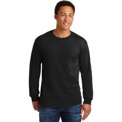 Gildan  - Ultra Cotton  100% Cotton Long Sleeve T-Shirt with Pocket. 2410