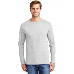 Hanes  - Tagless  100% Cotton Long Sleeve T-Shirt. 5586