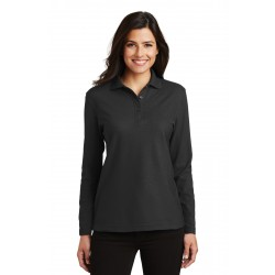 Port Authority  Ladies Silk Touch& Long Sleeve Polo. L500LS