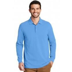 Port Authority  EZCotton  Long Sleeve Polo. K8000LS