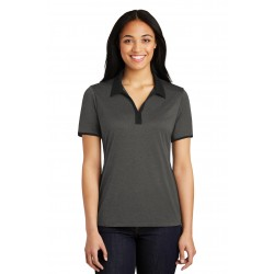 Sport-Tek  Ladies Heather Contender & Contrast Polo. LST667