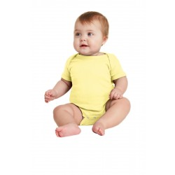 Rabbit Skins & Infant Short Sleeve Baby Rib Bodysuit. RS4400