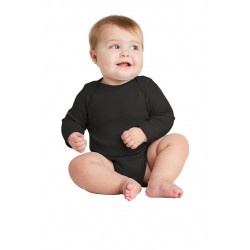Rabbit Skins & Infant Long Sleeve Baby Rib Bodysuit. RS4411