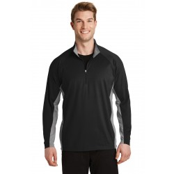 Sport-Tek  Sport-Wick  Stretch Contrast 1/2-Zip Pullover. ST854