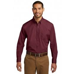 Port Authority  Long Sleeve Carefree Poplin Shirt. W100