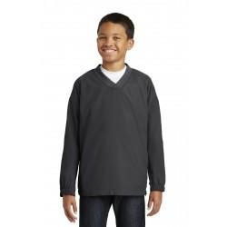Sport-Tek  Youth V-Neck Raglan Wind Shirt. YST72