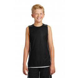 Sport-Tek  Youth PosiCharge  Mesh Reversible Sleeveless Tee. YT555