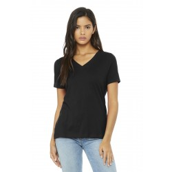 BELLA+CANVAS   Women's Relaxed Jersey Short Sleeve V-Neck Tee. BC6405
