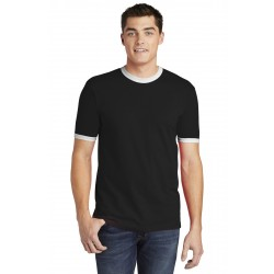 American Apparel   Fine Jersey Ringer T-Shirt. 2410W