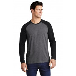 Sport-Tek   PosiCharge   Long Sleeve Tri-Blend Wicking Raglan Tee ST400LS