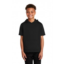 Sport-Tek   Youth Sport-Wick   Fleece Short Sleeve Hooded Pullover. YST251