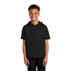 Sport-Tek   Youth Sport-Wick   Fleece Short Sleeve Hooded Pullover. YST251