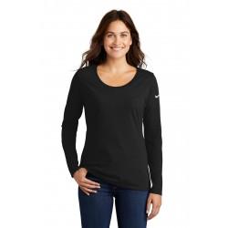 Nike Ladies Core Cotton Long Sleeve Scoop Neck Tee. NKBQ5235