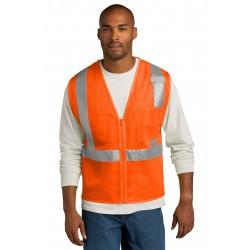CornerStone   ANSI 107 Class 2 Mesh Zippered Vest. CSV102