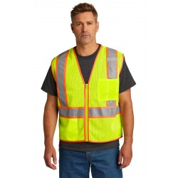 CornerStone   ANSI 107 Class 2 Mesh Zippered Two-Tone Vest. CSV103