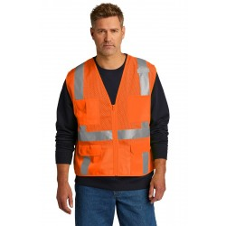 CornerStone   ANSI 107 Class 2 Mesh Six-Pocket Zippered Vest. CSV104