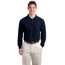 Port Authority  Long Sleeve Silk Touch& Polo with Pocket. K500LSP
